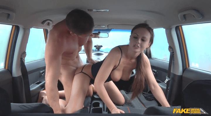 FakeDrivingSchool – Tina Kay – Backseat blowjobs and deep creampie