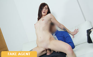 FakeAgent:  Pretty and shy model rides cock –  Elena Vega