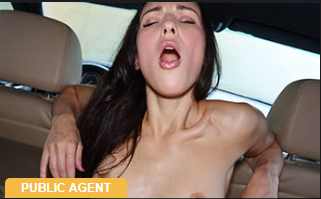 PublicAgent : Russian backseat fuck and blowjob – Lilu Moon