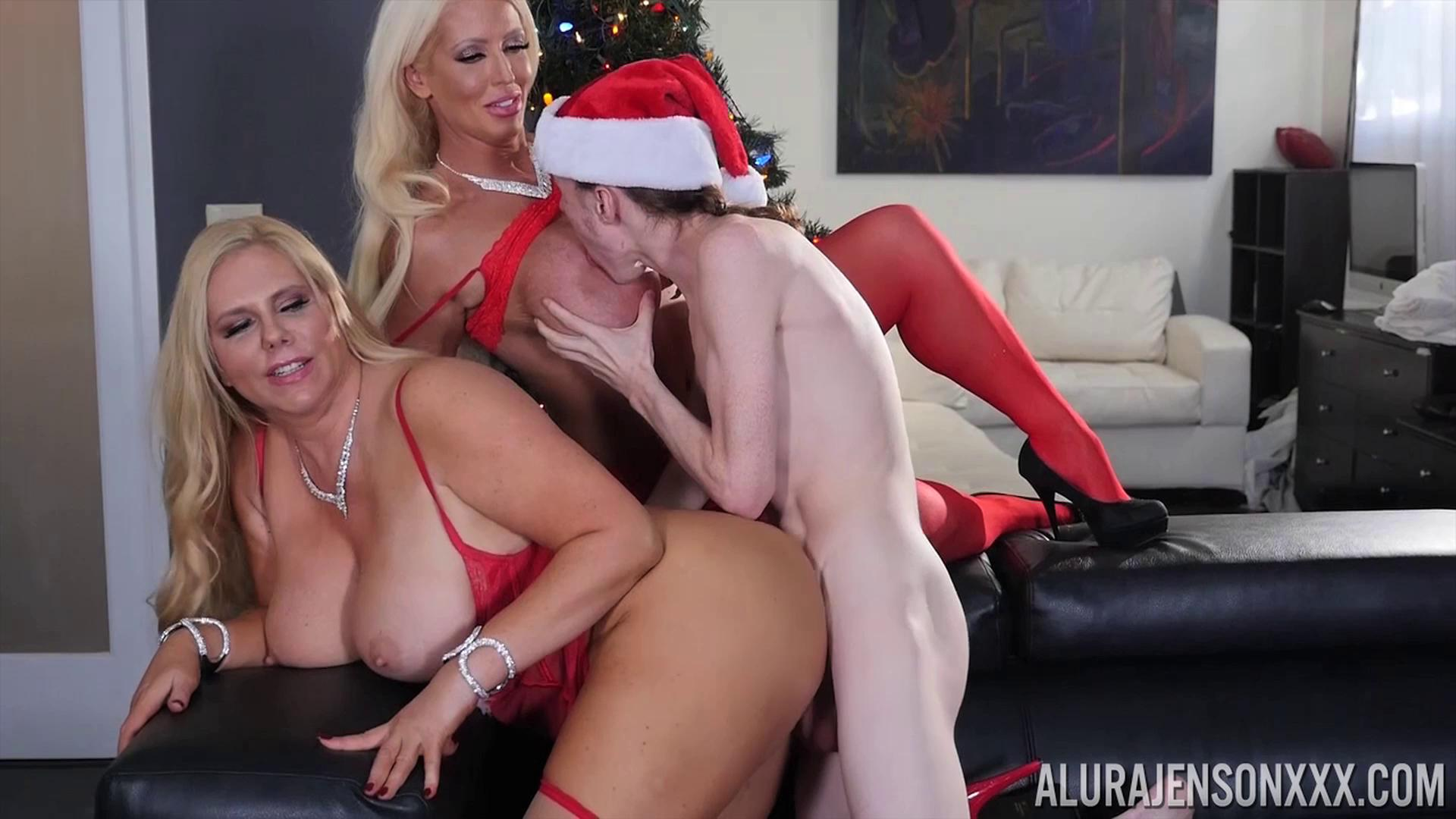PornstarPlatinum – Alura Jenson And Karen Fisher My Big Xmas Present