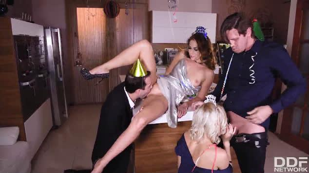 HandsOnHardcore – Group Sex on New Year's Eve – Kitana Lure, Ani Black Fox