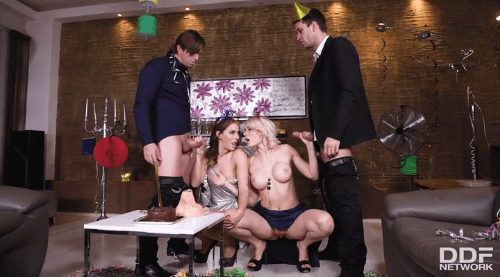 HandsOnHardcore: Group Sex on New Year's Eve – Kitana Lure, Ani Black Fox
